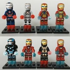 Marvel Super Hero Heroes Iron Man Patriot End Game Use With Lego 8 Mini Figures