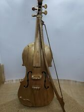 "Vintage miniature violin cello decorative painted plastic wall decor 15 "" tall"