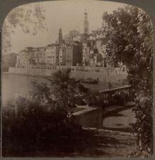 France. Menton, The Famous Mediterranean Winter Resort - Underwood Stereoview