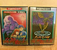 Megami Tensei 1&2 Set Digital Devil Story Nintendo Famicom Used Japan NTSC-J