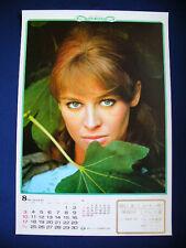 1969 Nathalie Delon Japan VINTAGE calendar POSTER VERY RARE