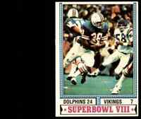 1974 Topps Super Bowl VIII Dolphins VIkings #463 *Noles2148* 10=Free Ship