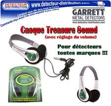 Casque Garrett Treasure Sound pour détecteurs de métaux toutes marques