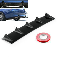 "23"" x 6"" Glossy Black ABS Car Rear Bumper Mount Lip Diffuser 5 Fin Universal New"
