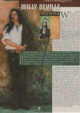 Willy DeVille Autogramm signed A4 Magazinbild