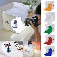 Double LED Light Room Photo Studio Photography Lighting Tent Backdrop Cube Box C