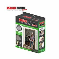Magic Mesh Double Door- Hands Free Magnetic Screen Door, Fits French & Slidin...