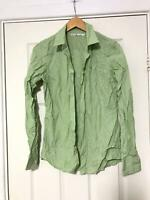 Tommy Hilfiger Green Casual Shirt Size 10 Womens Long Sleeve Great  (D803)