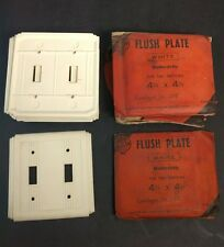 Original Ringgrip Modernistic Bakelite Flush Plate 128W for 2 switches