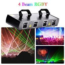 U`king Laser Stage Light 460mW 4Lens Beam RGPY DJ Party Show DMX 7CH Disco Light