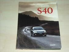49187) Volvo S40 S 40 Prospekt 1996