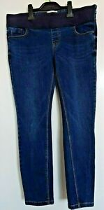 New Look Maternity Jeans Size 10 Under  The Bump Skinny Inside Leg 26 inches