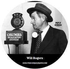WILL ROGERS COLLECTION (23 SHOWS) OLD TIME RADIO MP3 CD