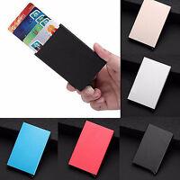 Mens Womens Aluminum Slim ID Credit Card RFID Protector Holder Purse Wallet