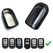1x Metallic Finish Black TPU Key Fob Cover Case For Honda Accord Fit CRV Odyssey