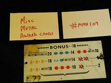 DAMAGED ANTIQUE SLOT MACHINE REPRO MISC MIXED METAL AWARD CARD #MMA109