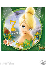 Tinker Bell Disney Cake Topper Party Personalized Edible Wafer Paper 20cm a24