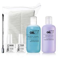 Gel Polish Nail Manicure Kit MyGel Top Base Coat Prep Wipe Rem Cuticle Pusher
