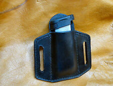 Leather Magazine Holder for Glock 43, Single Stack, Belt or Pocket Holder,