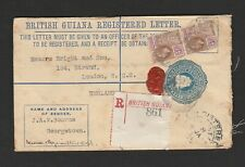 British Guiana stationery registered letter to London