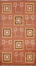 3'x5' Geometric Modern Gabbeh Kashkoli Oriental Area Rug Hand-knotted Home Decor