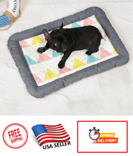 Dog Cat Pet Cooling Bed Sleeping Mat Summer Heat Relief Comfortable Cushion Pad