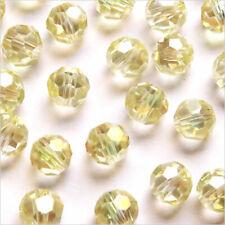 Packung 20 Perlen Mit Facetten 8mm aus Kristall Champagner