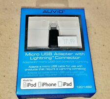 New Auvio Micro USB Adapter with 8-Pin Lightning Connector