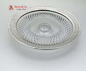 Cut Glass Pierced Reticulated Sterling Cake Plate Gorham 1910