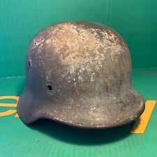 Rare WW2 German M40 Luftwaffe Camo White Washed Relic Helmet - Omaha Beach!