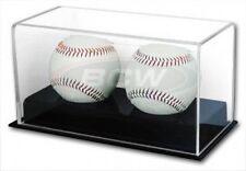 Bcw Deluxe Acrylic Double (2) Baseball Holder Display - Sports Memoriablia Case