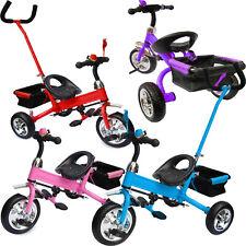 Dreirad mit Lenkstange abnehmbar Beinstellen Kinder 2-5 Jahre Rot Blau Pink Lila