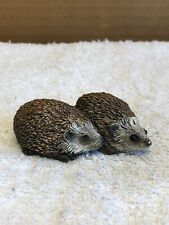 Two Hedgehogs Together Figurine