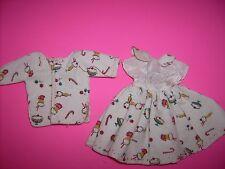 Vintage Corduroy dress Candy print 1950's 1960's doll clothes fits medium doll
