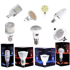 E27 E14 GU10 6er Pack LED Lampe Leuchtmittel WARM WEISS - ERSATZ ZUR GLÜHBIRNE