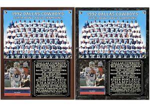 Dallas Cowboys Super Bowl XXVII Champions Photo Card Plaque