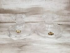Absolutely Stunning Vintage Zajecar Contessa Lead Crystal Candle Stick Holders