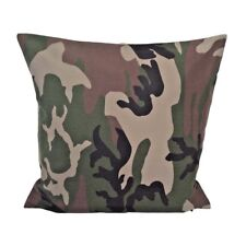 Woodland/Leaf Pattern Camo/Camouflage Army Cotton Canvas Pillow / Cushion Cover