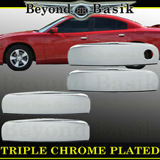 DODGE CHARGER 2011-2018 Chrome Door Handle Covers Overlays trims caps No Psg Key