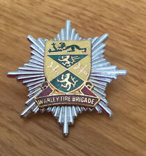 An old original Warley  Fire Brigade, cap badge.Pre 74.