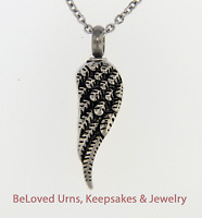 Single Angel's Wing Cremation Jewelry Pendant Urn Keepsake Memorial Necklace