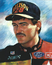 DAVEY ALLISON 8 X 10 PHOTO ART WITH ULTRA PRO TOPLOADER