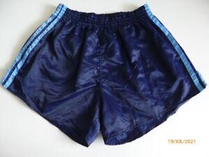 ADIDAS Glanz Shiny Nylon Vintage Retro Sprinter Boxer Shorts Hot Pants Hose D6 L