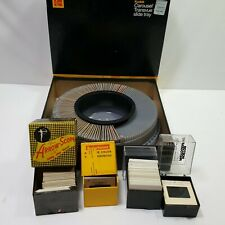 Kodak Carousel Slide Tray 4 Packs Of Vintage Slides Historic Photos Collectible