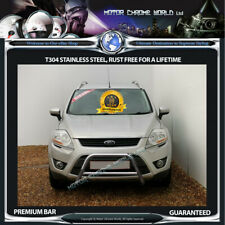 FITS FORD KUGA CHROME NUDGE PUSH A-BAR STAINLESS STEEL BULL BAR 2007-2012 (NX1)