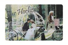 Geschenkkarte Motivkarte Silberbarren 999er Silber 1g Gramm Hochzeit Kutsche