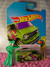 2016 Hot Wheels CUSTOM '77 DODGE VAN✰Kmart Green;gold 5sp;Art Cars S✰2017 Case B