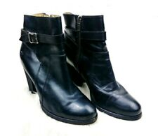 FRYE Women's Black Leather Strap Detail Patty Riding Ankle Booties Size 8