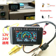 LCD Parameter Display Car Water Temp Voltmeter Oil Pressure Gauge Meter M10 12v