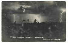 Early 1900s RPPC Nebraska LIGHTING At Night